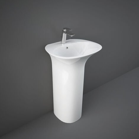 RAK Sensation Basin with Full Pedestal 550mm Wide - 1 Tap Hole