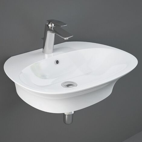 RAK Sensation Wall Hung Basin 600mm Wide - 1 Tap Hole