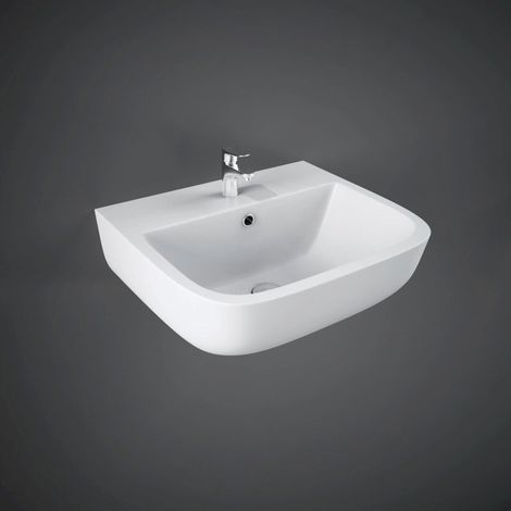 RAK Series 600 400mm Wall Hung Basin with 2 Tap Holes - S60040BAS2