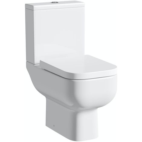 RAK Series 600 close coupled toilet with soft close seat