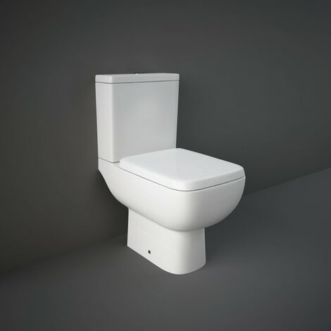 RAK Series 600 Close Coupled Toilet & Wrapover Soft Close Seat - size - color White
