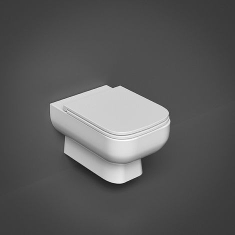 RAK Series 600 Rimless Wall Hung Toilet Pan with Slim Sandwich Soft Close Seat and Hidden Fixings - S600WHPAN/017