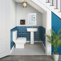 RAK Series 600 Short Projection Close Coupled Toilet & Basin Cloakroom Suite
