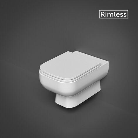 RAK Series 600 Wall Hung WC Pan & Slimline Soft Close Seat