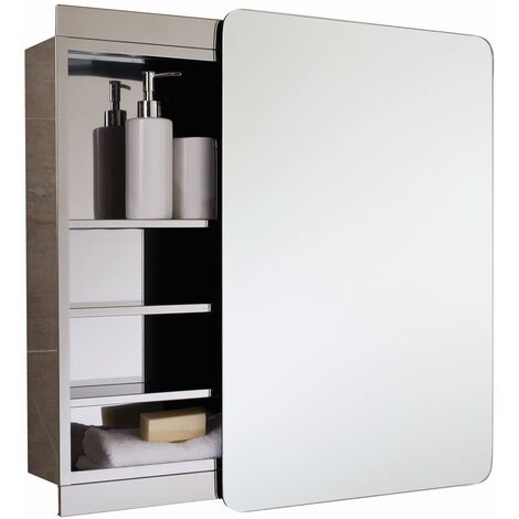 RAK Slide Single Cabinet with Sliding Mirrored Door 700 x 500