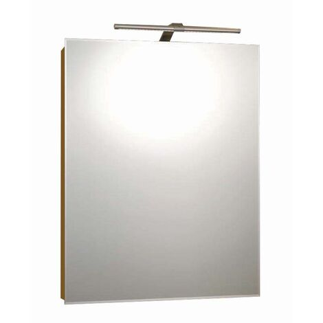 RAK Solitaire Mirrored Bathroom Cabinet 700mm H x 550mm W Aluminium