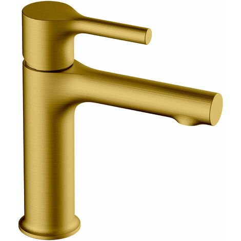RAK Sorrento Basin Mixer Tap Without Waste - Brushed Gold
