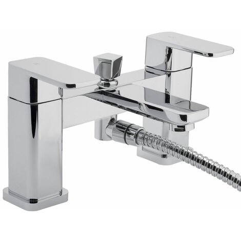 RAK Square Bath Shower Mixer Tap Deck Mounted - Chrome