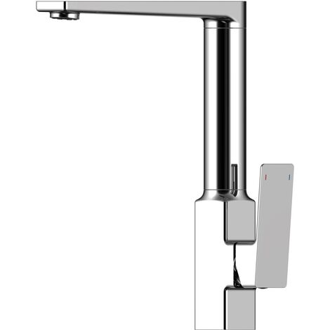 RAK Square Kitchen Sink Mixer Tap - Side Lever