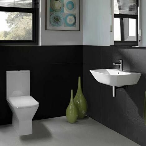 RAK Summit Bathroom Suite Close Coupled Toilet and Basin 400mm 1 Tap Hole