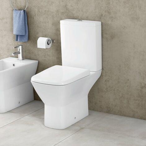RAK Summit Close Coupled Toilet with Push Button Cistern - Soft Close Seat