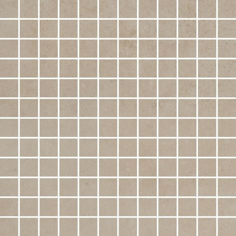 RAK Surface Light Sand Matt 30cm x 30cm Sheet 2.3cm x 2.3cm Squares Porcelain Mosaic Tile - AM-GZSUR-LSN.RT/2H