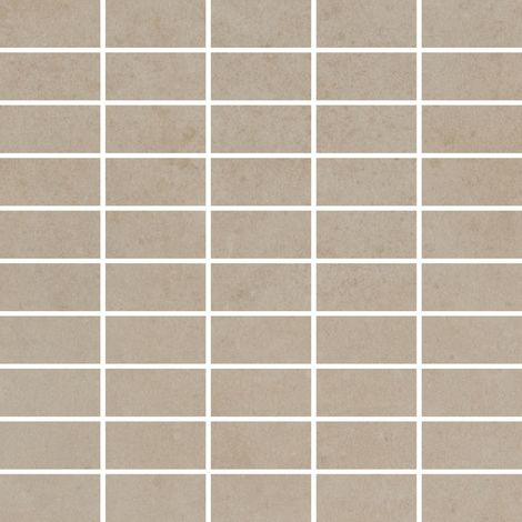 RAK Surface Light Sand Matt 30cm x 30cm Sheet 2.7cm x 5.8cm Bricks Porcelain Mosaic Tile - AM-GZSUR-LSN.RT3/6