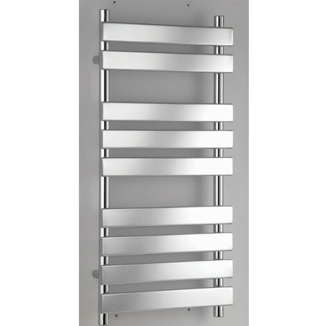 RAK Temple Flat Panel Heated Towel Rail 1300mm H x 500mm W - Chrome