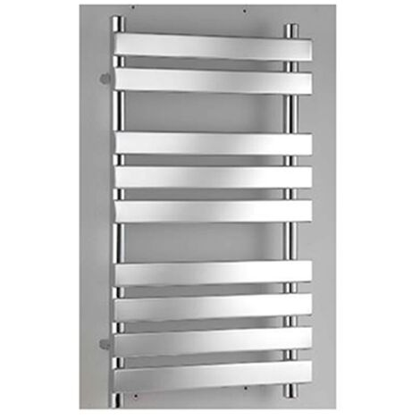 RAK Temple Flat Panel Heated Towel Rail 950mm H x 500mm W - Chrome