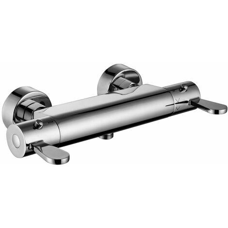 RAK Thermostatic Bar Shower Valve Bottom Outlet - Chrome