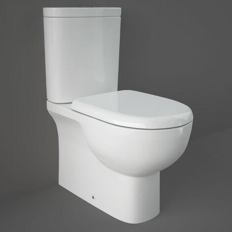 RAK Tonique Close Coupled BTW Toilet with Soft Close Seat - White