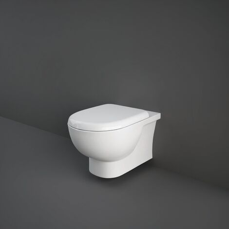 RAK Tonique Rimless Wall Hung Toilet Hidden Fixation 550mm Projection - Soft Close Seat