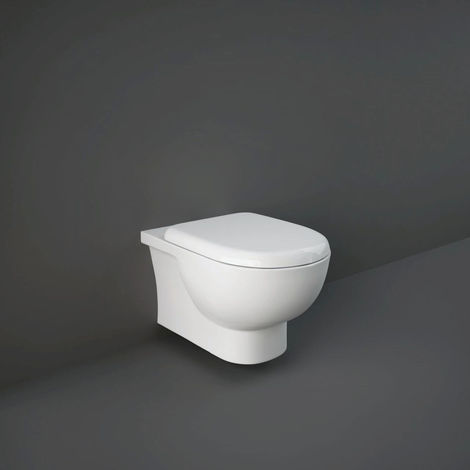 RAK Tonique Rimless Wall Hung Toilet Pan with Soft Close Seat and Hidden Fixings - TONWHPAN/SC