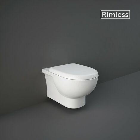RAK Tonique Wall Hung WC Pan with Hidden Fixations & Soft Close Seat
