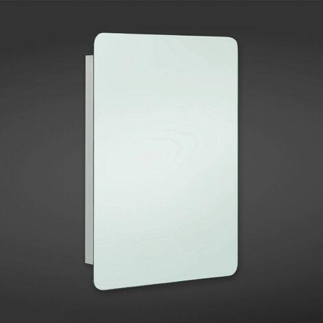 RAK Uno Unlit Rectangular Bathroom Mirror Stainless Steel Cabinet 660 x 460mm
