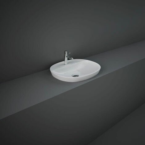 RAK Variant Oval Drop-In Wash Basin 500mm Wide 1 Tap Hole - Alpine White