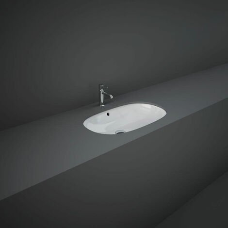 RAK Variant Oval Undermount Countertop Basin 600mm Wide - 0 Tap Hole