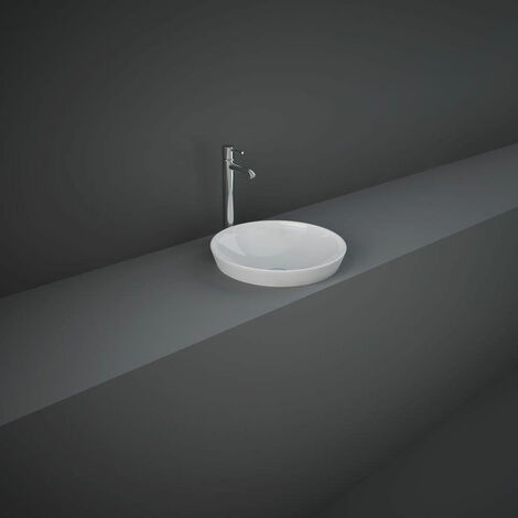 RAK Variant Round Drop-In Wash Basin 360 Wide 0 Tap Hole - Alpine White