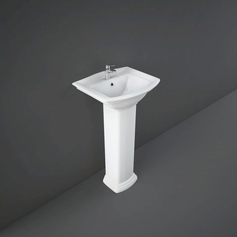 RAK Washington 460mm Basin with 1 Tap Hole and Small Pedestal