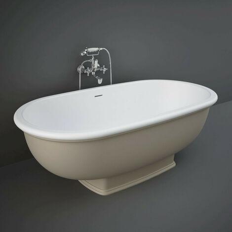 RAK Washington Cappuccino 1560mm x 810mm Double Ended Freestanding Bath - WTBT15681514