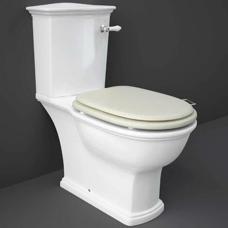 RAK Washington Close Coupled Toilet with Horizontal Outlet & Lever Cistern - Greige Seat