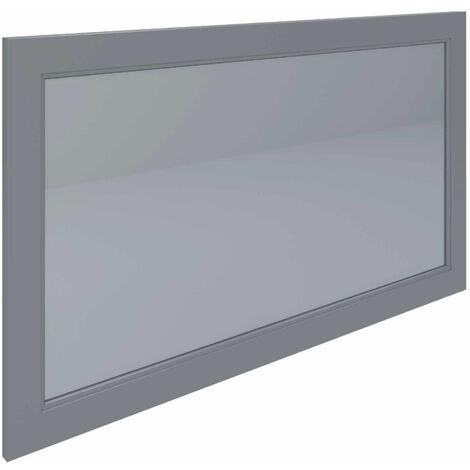 RAK Washington Framed Bathroom Mirror - 650mm H x 1185mm W - Grey