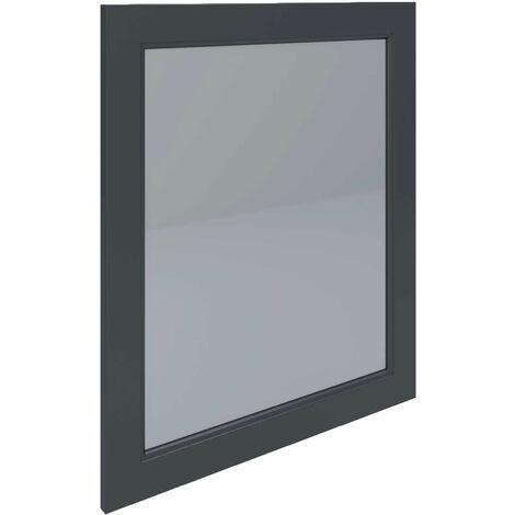 RAK Washington Framed Bathroom Mirror - 650mm H x 585mm W - Black