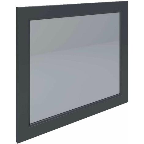 RAK Washington Framed Bathroom Mirror - 650mm H x 785mm W - Black