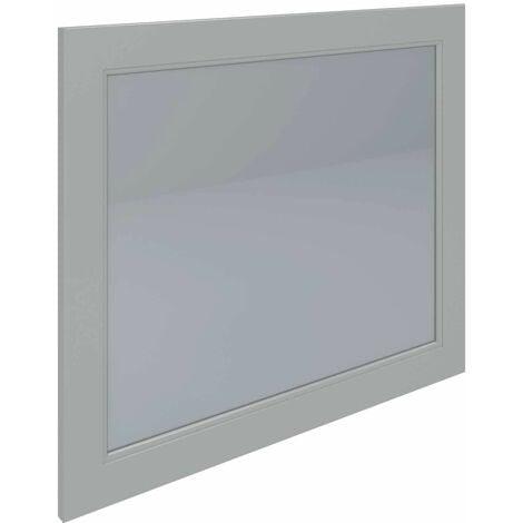 RAK Washington Framed Bathroom Mirror - 650mm H x 785mm W - Greige