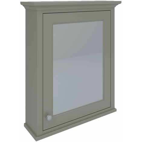 RAK Washington Mirrored Bathroom Cabinet 650mm W x 750mm H - Cappuccino