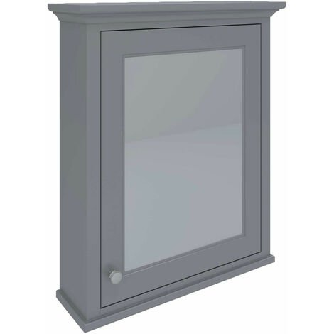 RAK Washington Mirrored Bathroom Cabinet 650mm W x 750mm H - Grey
