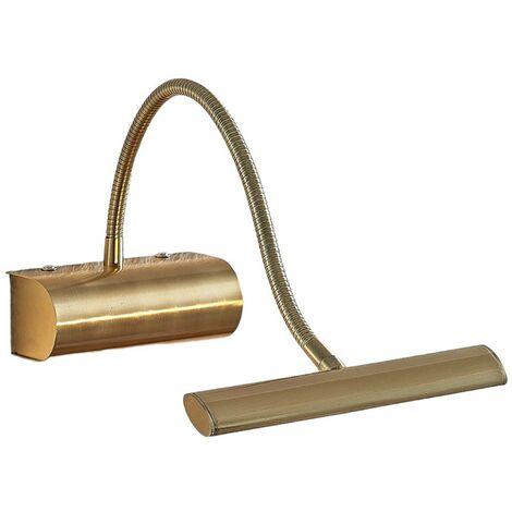 Rakel LED picture light, flexible arm, matt brass