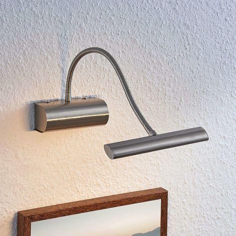 Rakel LED picture light, flexible arm, matt nickel