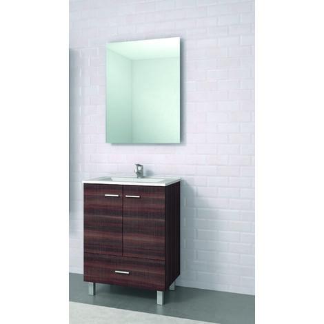 Raki Mueble de baño con lavabo ceramico 60 cms 2 Puertas/1Cajón