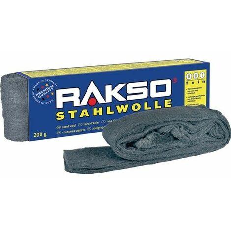 RAKSO Stahlwolle 200g 3 mittel sortenrein zum Polieren