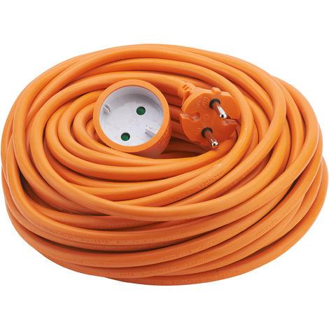 Rallonge 25m HO5VV-F 2x1.5 orange - Debflex