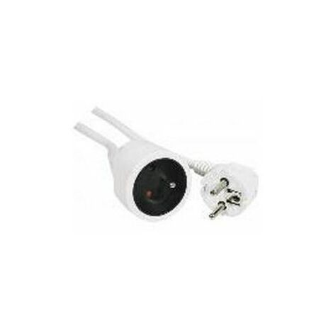 Rallonge 5M 3G 1.5 2P+T 16A Blanche