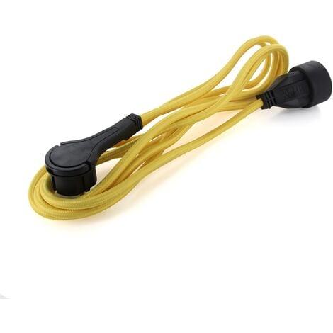 Rallonge à fiche plate MyChacon câble textile 3m doré