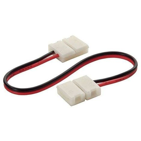 Rallonge connecteur bande LED et Clip Connecteur Raccord Pré-Cablé Mono Couleur pour bande 8mm - 19033