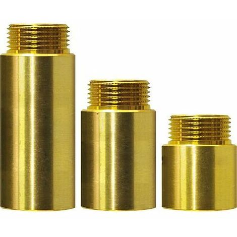 Rallonge de robinet, modele lourd male-fem 1, 100 mm laiton