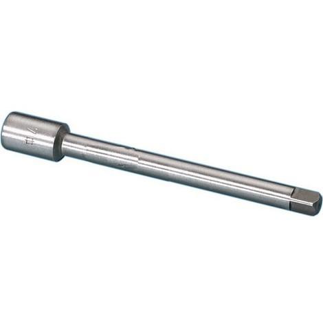 Rallonge de taraud, Quatre pans : 8,0 mm, Métrique -, Tubulaire Whitworth -, Long. : 125 mm