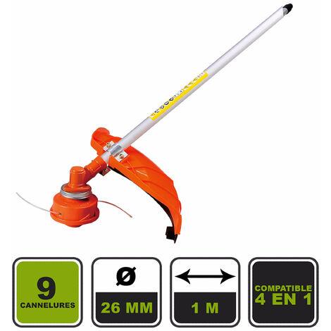 Rallonge débroussailleuse 9 cannelures Silex® pour outil multifonctions 4 en 1