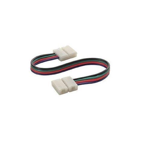 Rallonge double connecteur bande LED et Clip Connecteur Raccord Pré-câblé RGB 10mm HIPOW