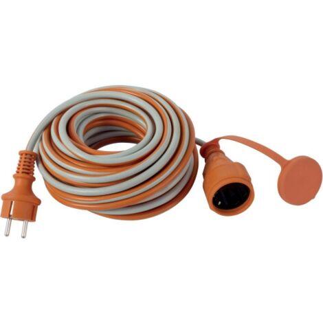 Rallonge électrique 25m H05VV-F 3G15or-gr